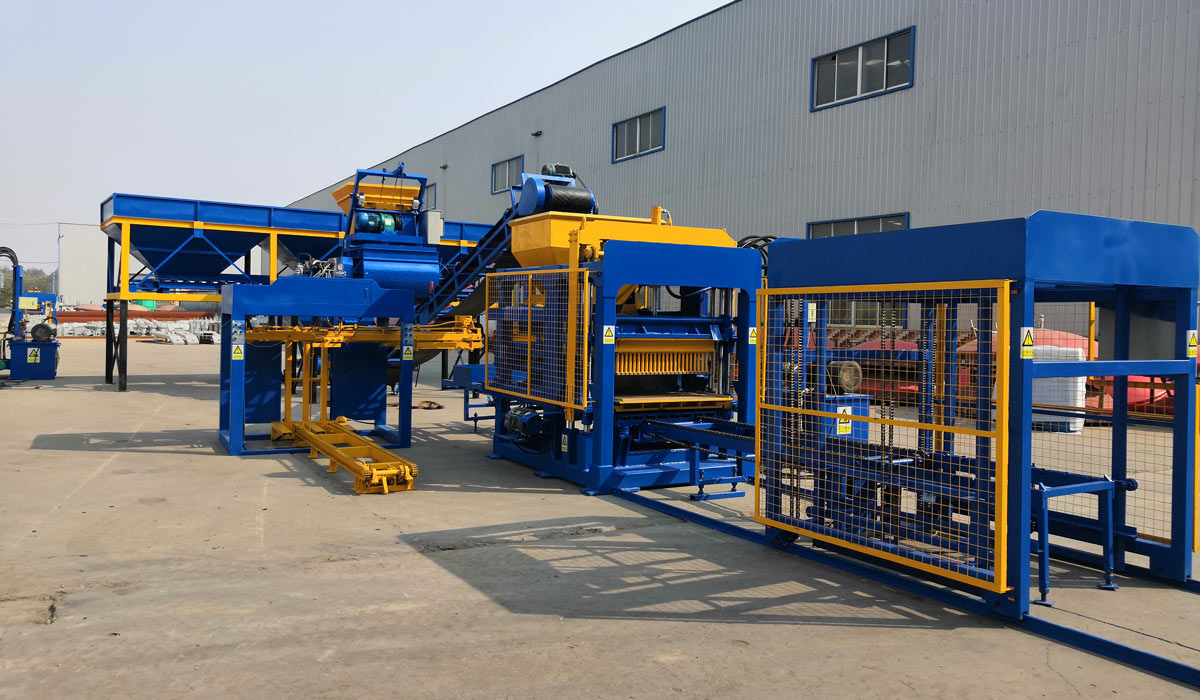 ABM-4S concrete block manufacturing machine