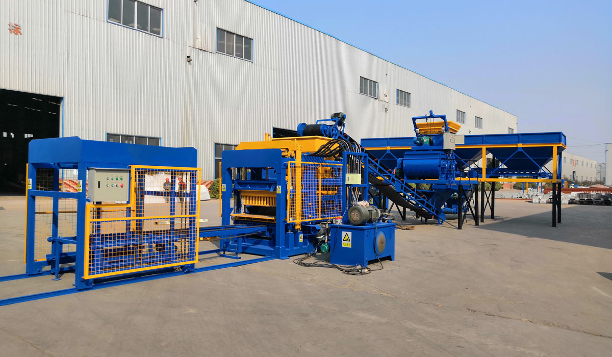 ABM-4S fully automatic concrete hollow block making machine