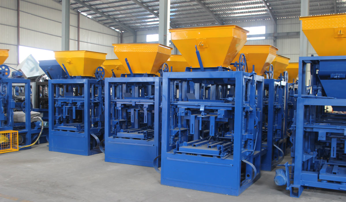 ABM-4SE semi automatic concrete block making machine