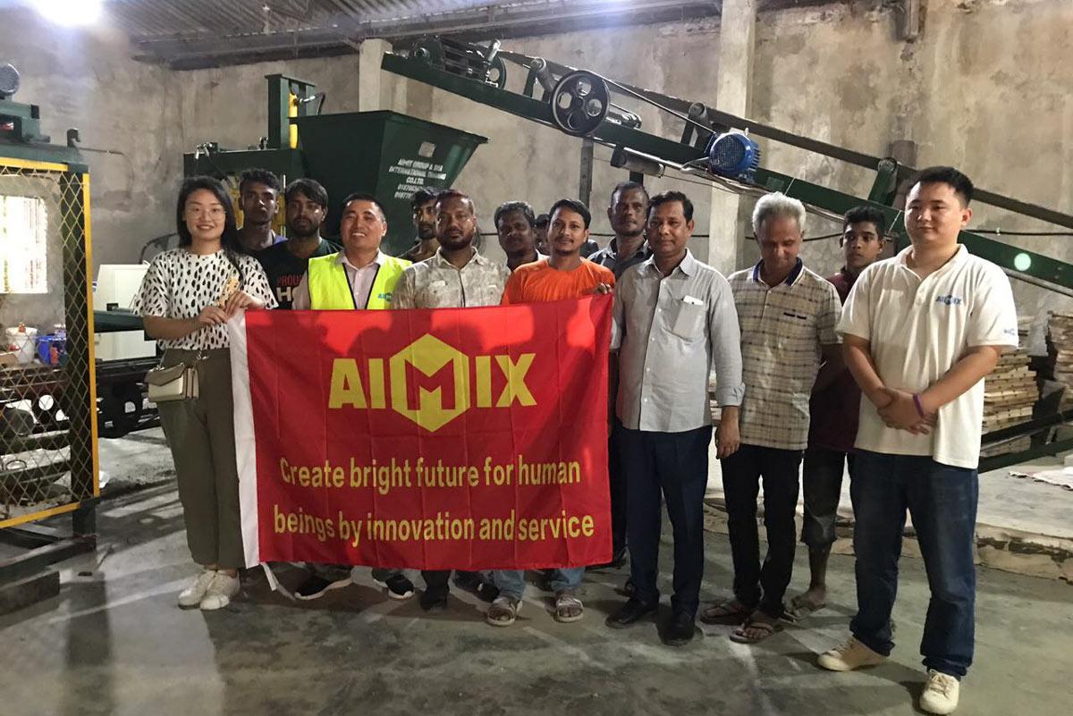 penyelenggaraan selepas penjualan mesin blok automatik ABM-3S Bangladesh