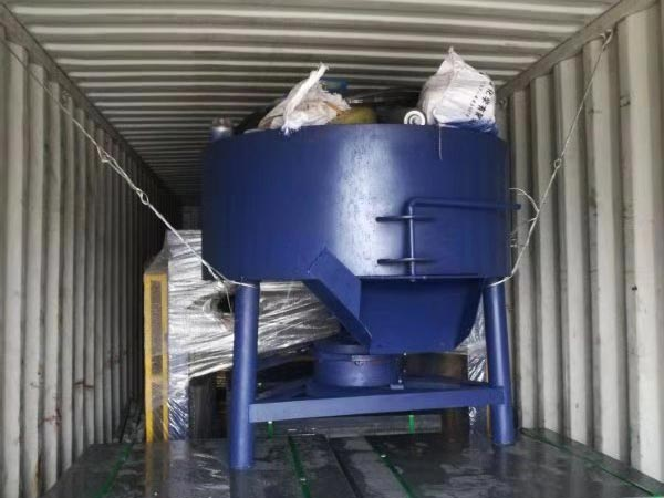 concrete pan mixer for ABM-4SE semi auto eco brick machine