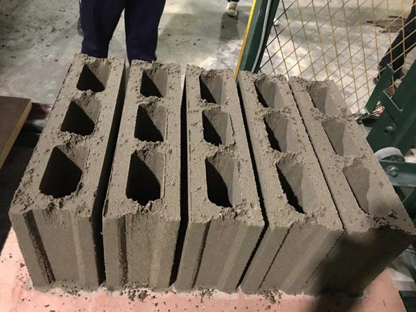 hollow blocks produced by ABM-3S hollow block machine