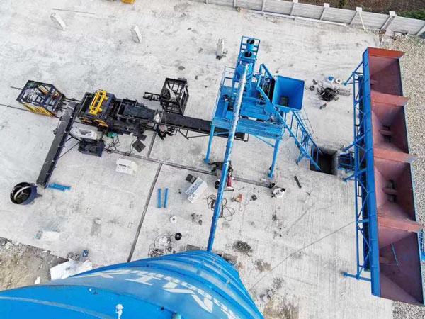 установка машины для производства бетонного кирпича ABM-8S
