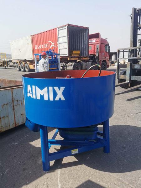 pan mixer of concrete brick machine