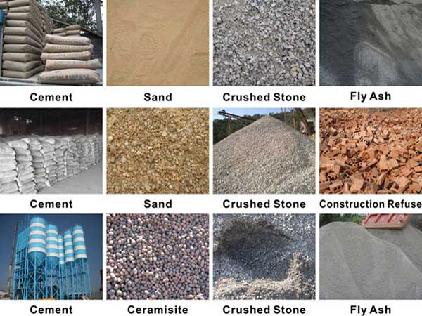 use different raw materials