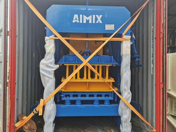 ABM-4S concrete block machine to Jamaica
