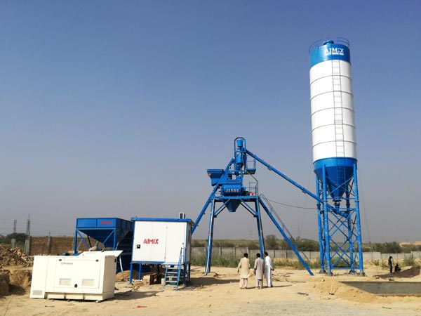 AJ-25 small concrete batching plant