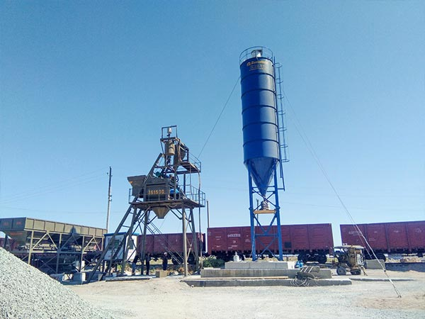 AJ-75 small concrete batch plant