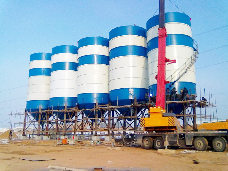 cement silo for brick production