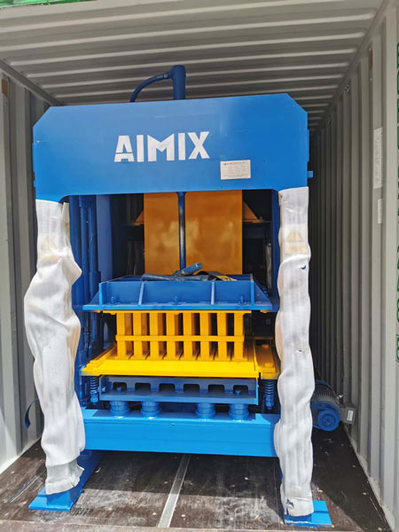 concrete block machine shipment