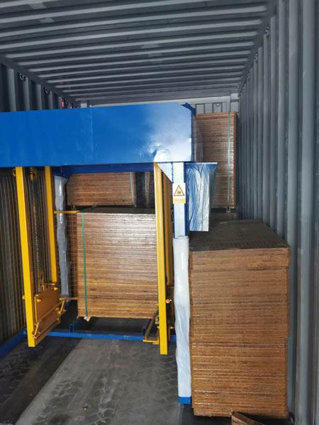 shipment of ABM-4S concrete block machine
