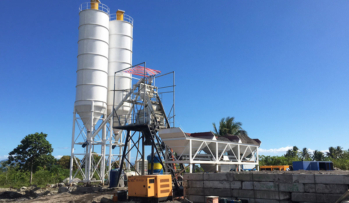 small concrete plant installed in the philippines