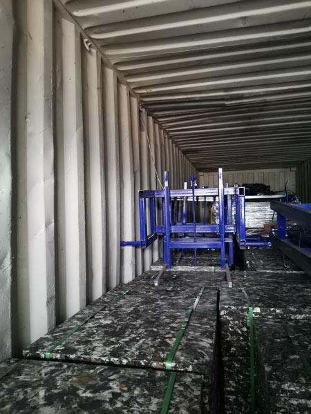 transport cement block machine to Honduras