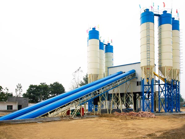 AJ-120 stationary concrete batch plant