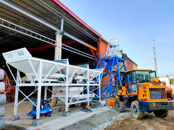 AJ-25 stationary concrete batching plant Philippines