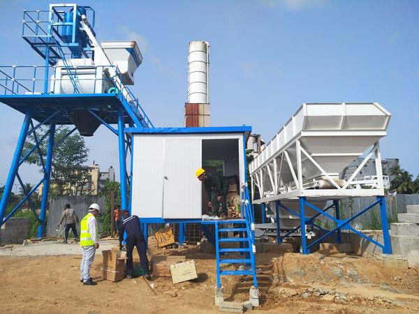 AJ-50 concrete mixer plant