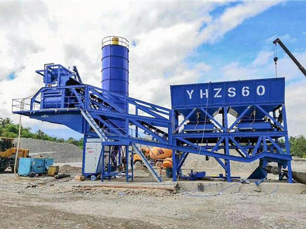 AJY-60 mobile concrete batch plant