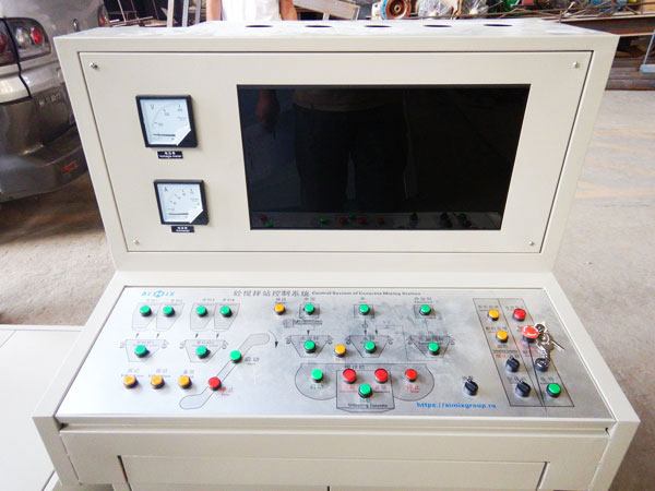 PLC control system for mobile batching plant