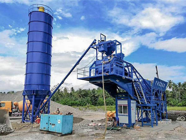 Philippines mobile batching plant AJY-60