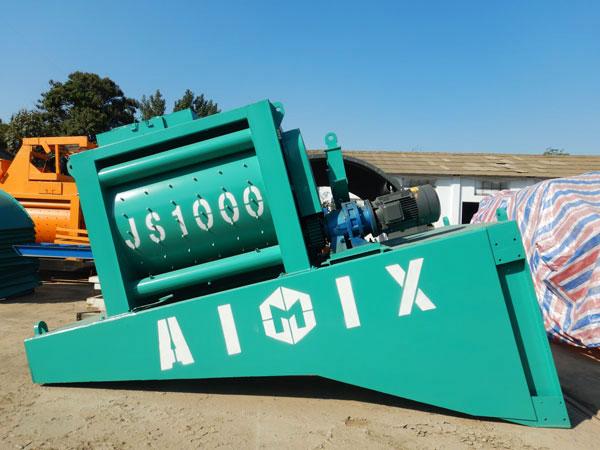 twin shaft mixer machine for mobile concrete plant