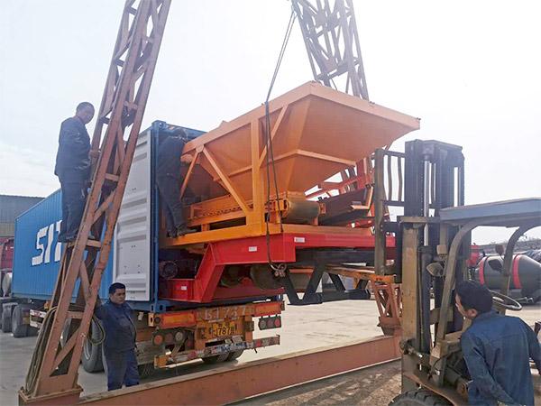 AJT-60 portable concrete plant to Indonesia
