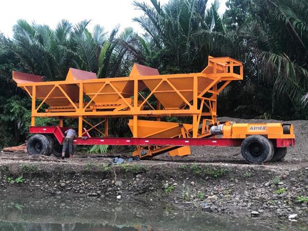 AJT35 portable batch plant Indonesia