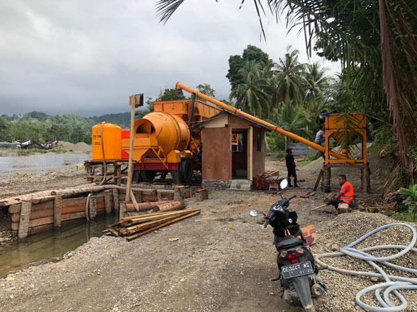 AJT35 portable concrete batch plant Indonesia