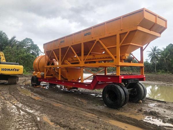 AJT35 portable concrete plant in Indonesia