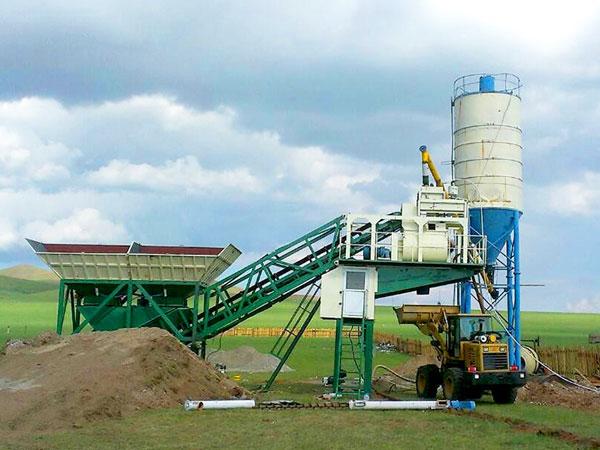AJY-25 mobile ready mix concrete plant