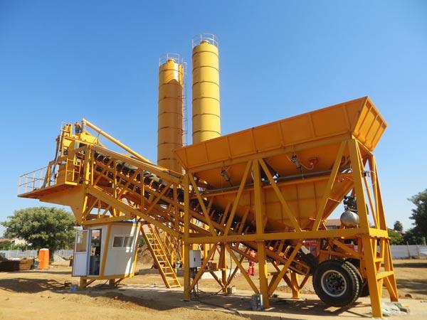 AJY-35 mobile ready mix concrete plant
