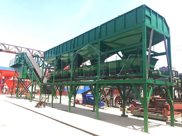 AJY-50 mobile concrete batching plant Indonesia