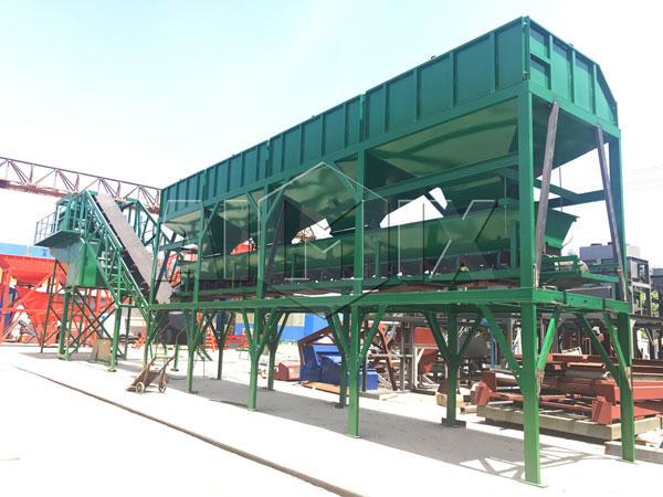 AJY-50 mobile ready mix concrete plant