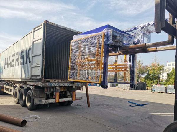 export ABM-6S auto brick machine to Armenia