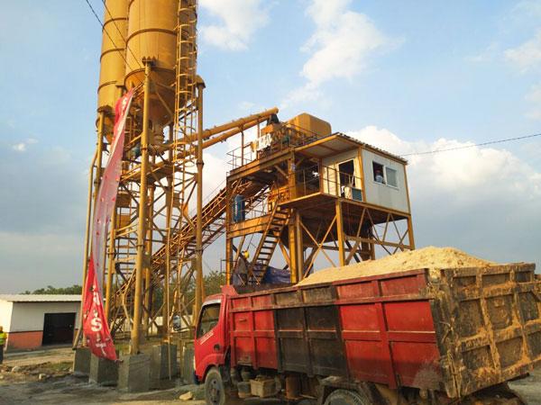 install AJ-90 concrete plant