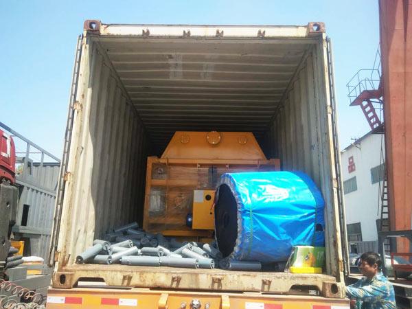 load concrete mixer machine to Indonesia