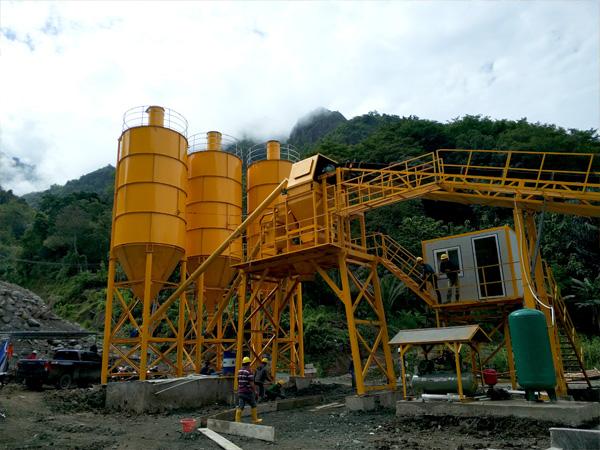 overview of AJ-60 concrete plant