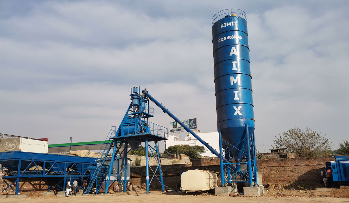 AJ-50 concrete plant for Pakistan