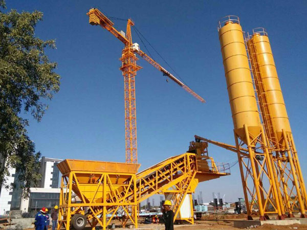 AJY-35 mobile concrete plant in Botswana