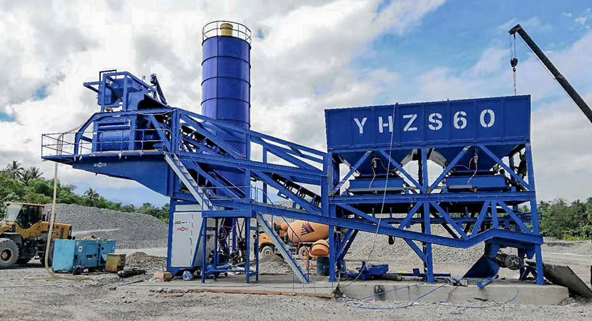 AJY-60 mobile concrete plant in the Philippines