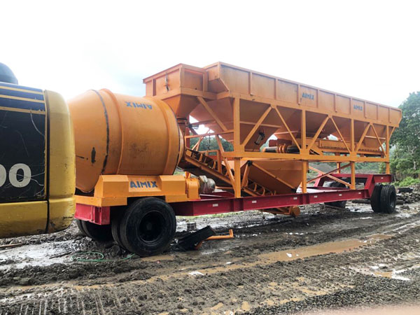 mobile concrete plant in Indonesia