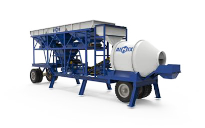 portable concrete mixer plant