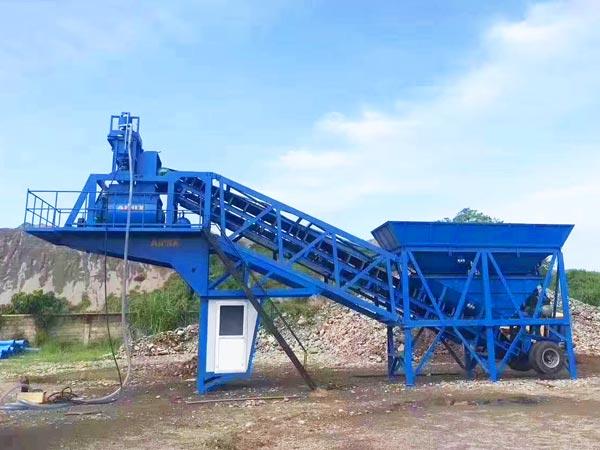 AJY-35 mini concrete plant Philippines