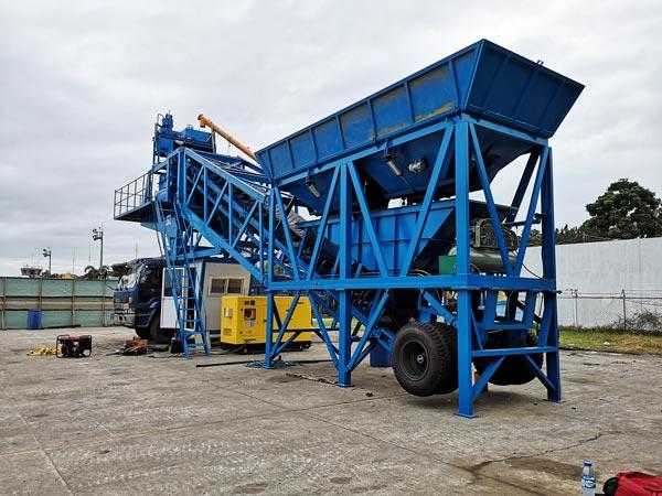AJY-35 mini mobile concrete batch plant