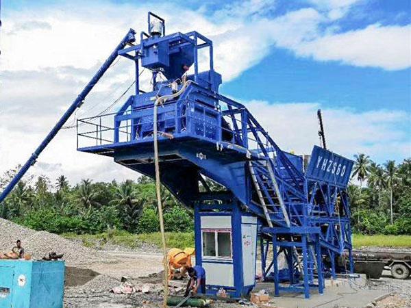 AJY-60 mini concrete batching plant Philippines