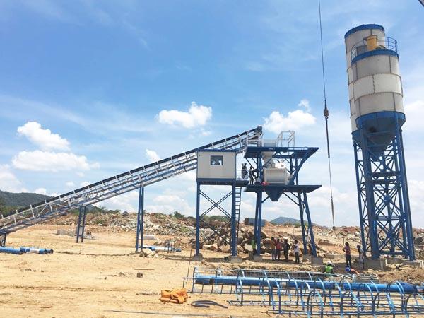 belt conveyor type concrete plant