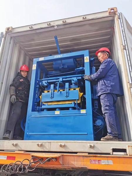 ABM-4SE automatic concrete block machine