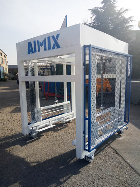 ABM-4S concrete block machine to Jamaica