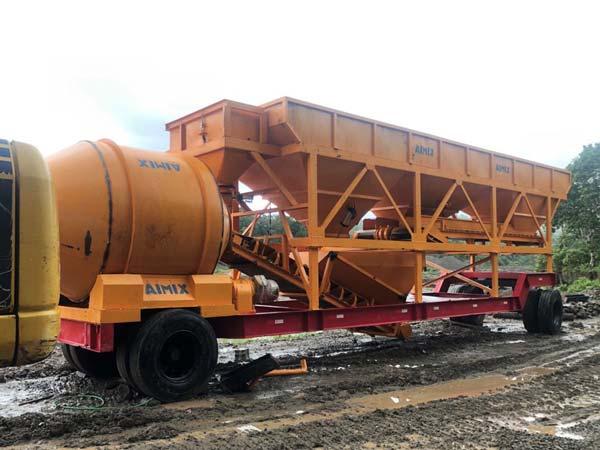Tragbares Betonwerk AJT-35 Indonesien