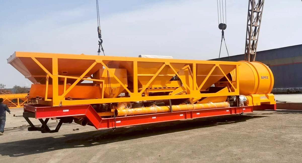 Tragbares Betonwerk AJT60 Indonesien