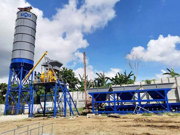Planta de hormigón estacionaria AJ-35 en Filipinas